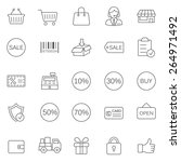sale line icons set.vector | Shutterstock .eps vector #264971492