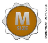 m size circular icon on white... | Shutterstock . vector #264972818
