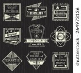 vector set of vintage labels.... | Shutterstock .eps vector #264973136