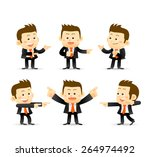 set of businessman in different ... | Shutterstock .eps vector #264974492