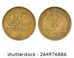 East German Twenty Pfennig Coin.