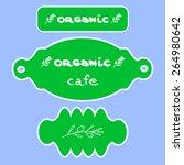 organic logo menu   Shutterstock .eps vector #264980642