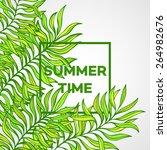 summer time. vector...   Shutterstock .eps vector #264982676