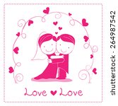 my love wedding. | Shutterstock .eps vector #264987542