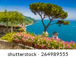 scenic picture postcard view of ... | Shutterstock . vector #264989555
