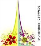 flower background design   Shutterstock .eps vector #26499601