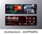 set of modern design banners... | Shutterstock .eps vector #264996896