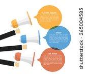 megaphones with speech bubbles  ... | Shutterstock .eps vector #265004585