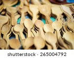 wood spoon | Shutterstock . vector #265004792