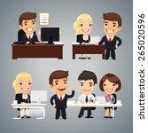 businessmen at the table... | Shutterstock .eps vector #265020596