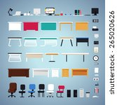 office furniture set. easy to... | Shutterstock .eps vector #265020626