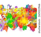 abstract colorful splash... | Shutterstock .eps vector #265022966