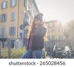 beautiful middle eastern girl... | Shutterstock . vector #265028456