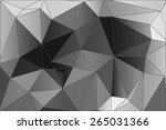 geometric abstract low poly... | Shutterstock .eps vector #265031366