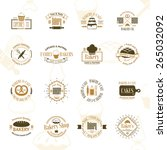 vintage bakery badges  labels... | Shutterstock .eps vector #265032092