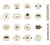vintage bakery badges  labels... | Shutterstock .eps vector #265032092