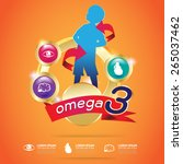 kids calcium and omega 3... | Shutterstock .eps vector #265037462