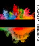 freeze motion of colored dust... | Shutterstock . vector #265039346
