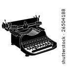 Detailed vector illustration of a manual typewriter - stock vector