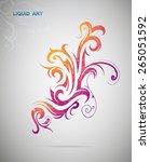 graphic design element. floral...   Shutterstock .eps vector #265051592