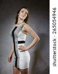 beautiful young fashion woman | Shutterstock . vector #265054946