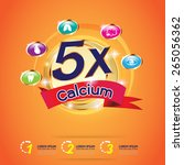 kids calcium omega 3 concept... | Shutterstock .eps vector #265056362