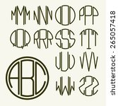 set 2 template letters to... | Shutterstock .eps vector #265057418