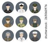 military avatars. vector set | Shutterstock .eps vector #265060976