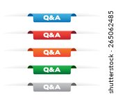 q a paper tag labels | Shutterstock .eps vector #265062485