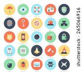 abstract vector set of colorful ... | Shutterstock .eps vector #265066916