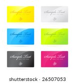 business card templates | Shutterstock .eps vector #26507053