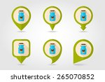 can container for milk flat... | Shutterstock .eps vector #265070852