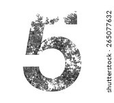 5 number double exposure with... | Shutterstock . vector #265077632