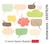 careless speech bubble shapes... | Shutterstock .eps vector #265078196