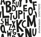 careless sketch alphabet... | Shutterstock .eps vector #265078202