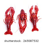food. delicious crayfish on a... | Shutterstock . vector #265087532