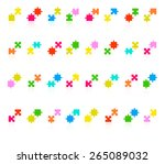 jigsaw puzzle pieces collection ... | Shutterstock .eps vector #265089032