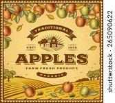 vintage apples label. editable... | Shutterstock .eps vector #265090622
