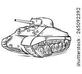 american ww2 m4 sherman medium... | Shutterstock .eps vector #265092392