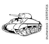 american ww2 m4 sherman medium... | Shutterstock .eps vector #265092416