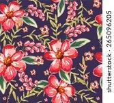 seamless floral pattern | Shutterstock .eps vector #265096205