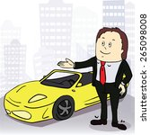 business man and comfortable...   Shutterstock .eps vector #265098008