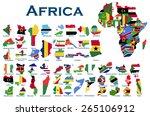 high detailed  editable maps... | Shutterstock .eps vector #265106912