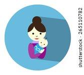 mommy   newborn baby icon.... | Shutterstock .eps vector #265110782