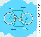 fixed bike in the sky | Shutterstock .eps vector #265111535