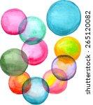 watercolor bubbles. handpainted ... | Shutterstock .eps vector #265120082