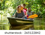 tourist boat navigating on... | Shutterstock . vector #265122842
