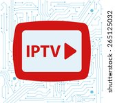 iptv concept with integrated...   Shutterstock .eps vector #265125032