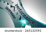 performance increase on the... | Shutterstock . vector #265132592