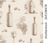 seamless pattern with pencil... | Shutterstock . vector #265138478